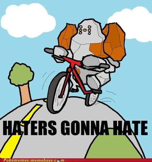 drawing haters gonna hate meme regirock rock type - 6565711104