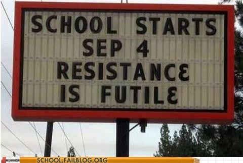 back to school,resistance is futile,school starts