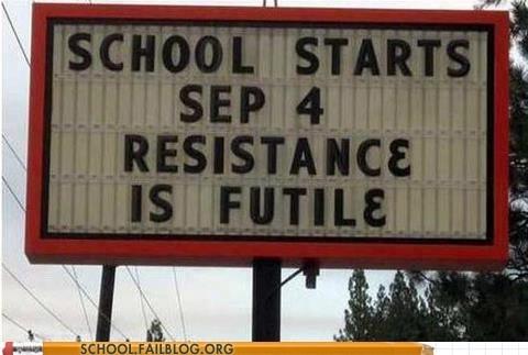 back to school resistance is futile school starts - 6565731072