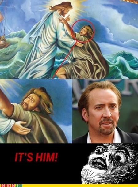 jesus mindblown nicolas cage painting vampire - 6565743360