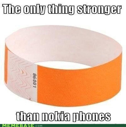 glue nokia paper wristbands wtf - 6565762304
