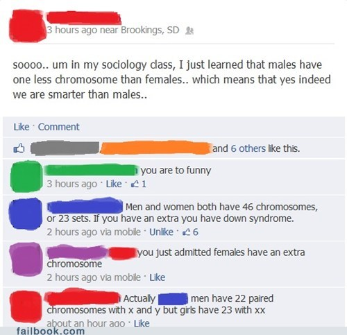 Genetics/Female Intelligence Fail