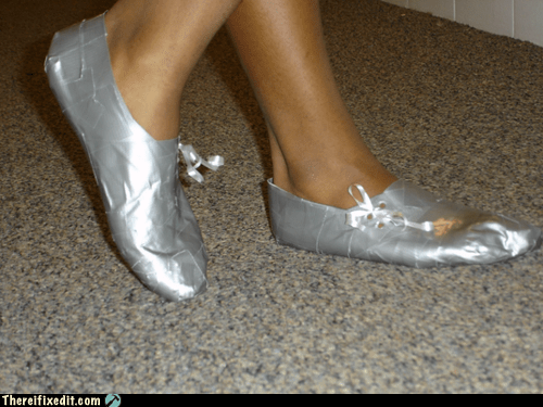 duct tape duct tape shoes duct tape slippers - 6565891072