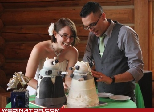 cakes couple dalek doctor who geeky