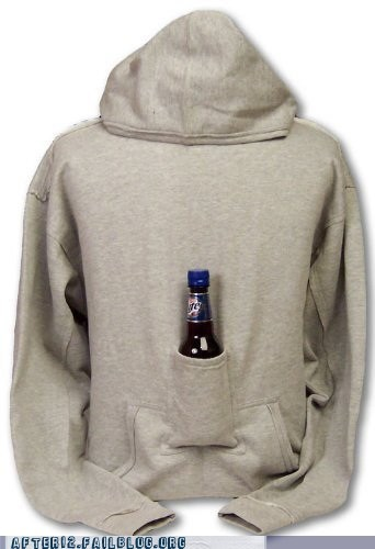 beer pocket hoodie pockets sloshed swag