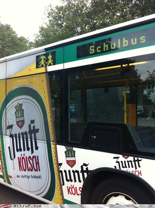 beer beer advertisement Germany schoolbus - 6566105856