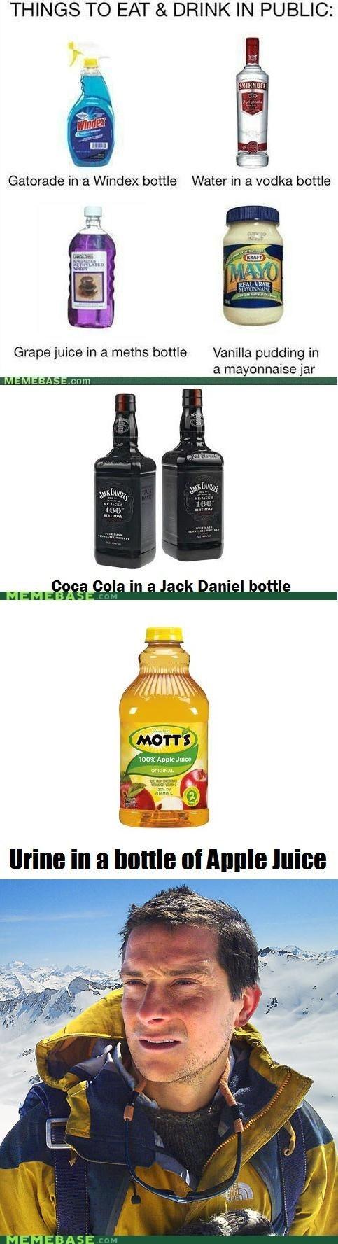 apple juice bear grylls pee - 6566161920