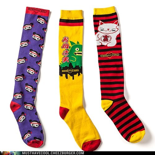 cat,monster,socks