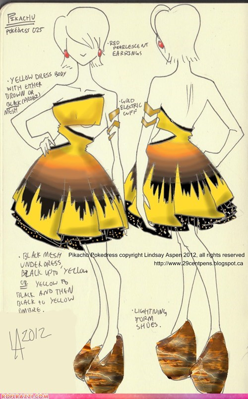 concept,drawing,dress,fashion,if style could kill,pikachu,Pokémon,style