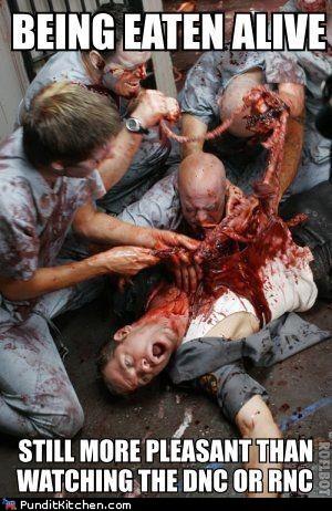 boring,dnc,eaten alive,painful,pleasant,rnc,zombie