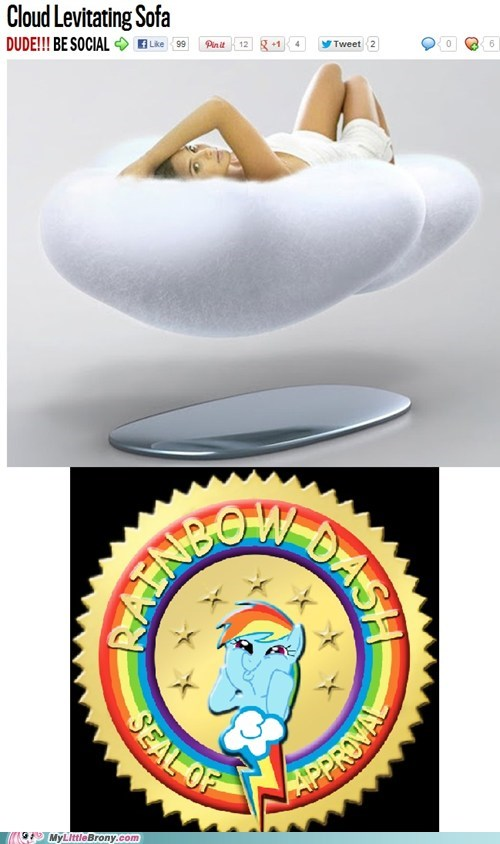 cloud levitating sofa rainbow dash approves twenty percent cooler - 6566280192