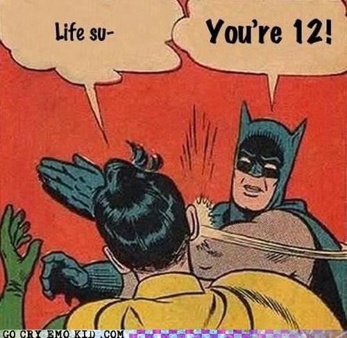 batman kids life sucks slap