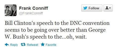 bill clinton dnc george w bush rnc tvs-frank tweet wait where