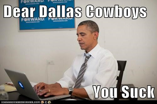 Dear Dallas Cowboys You Suck