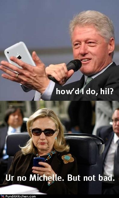bill clinton,dnc,Hillary Clinton,Michelle Obama,not bad,speech,texting