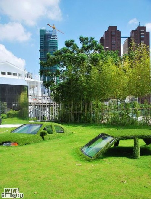art,cars,design,growth,park,sculpture