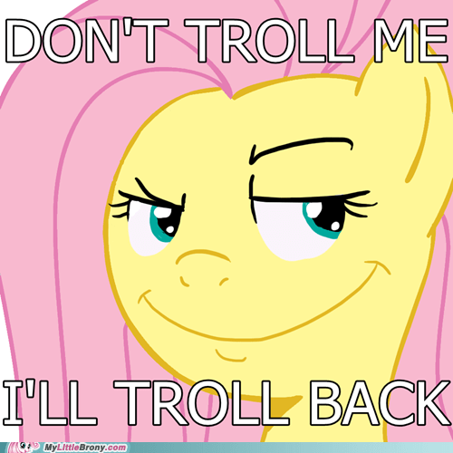 fluttershy,shes-gonna-get-ya,trolling,yay
