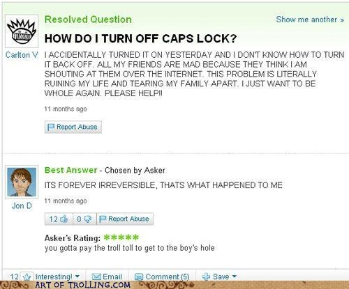 caps lock,cruise control for cool,yahoo answers