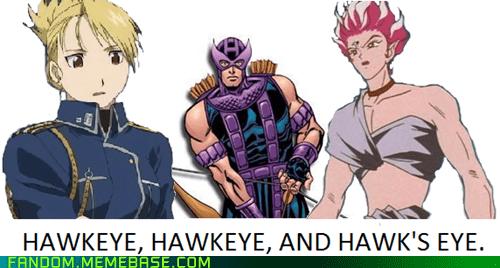 avengers,crossover,fullmetal alchemist,hawkeye,hawks-eye,riza hawkeye,sailor moon