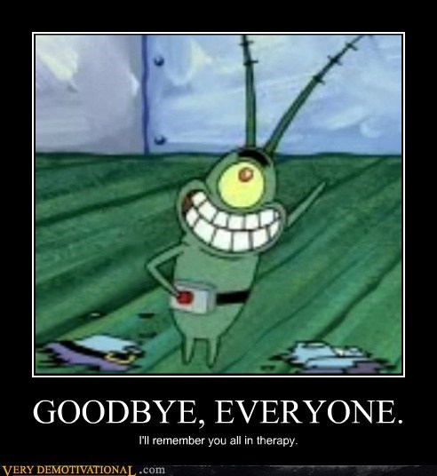 goodbye plankton SpongeBob SquarePants therapy