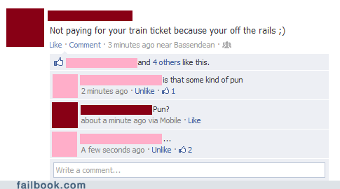 derailed pun train train ticket