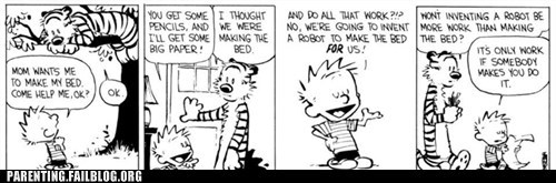 calvin and hobbes comic work