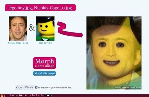 Lego Man,morphing,nicolas cage