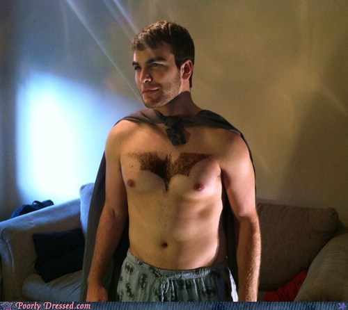 batman cape chest hair