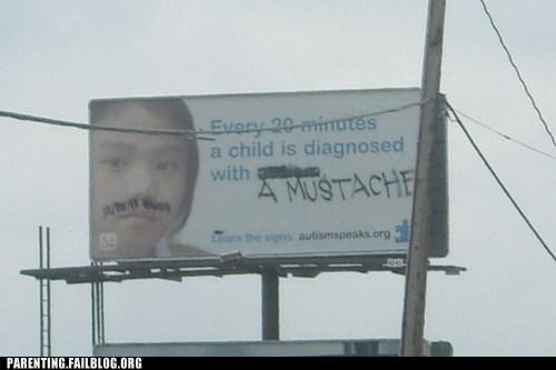 billboard,mustache