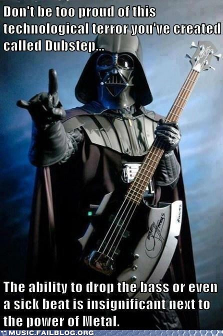 bass guitar darth vader dubstep heavy metal