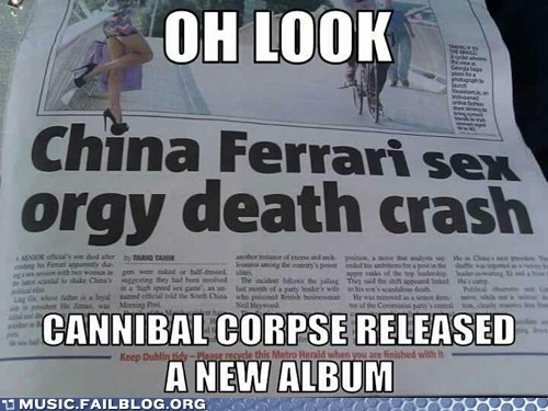 cannibal corpse,new album,newspaper