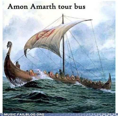 amon amarth,tour bus,viking ship
