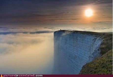cliff edge sky world