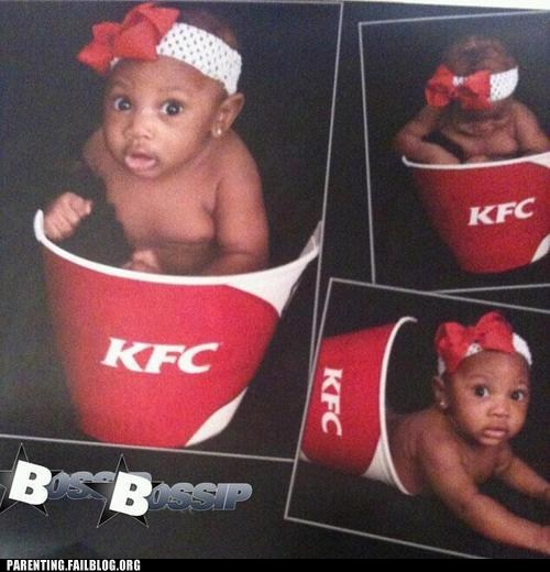 baby,bucket of chicken,kfc