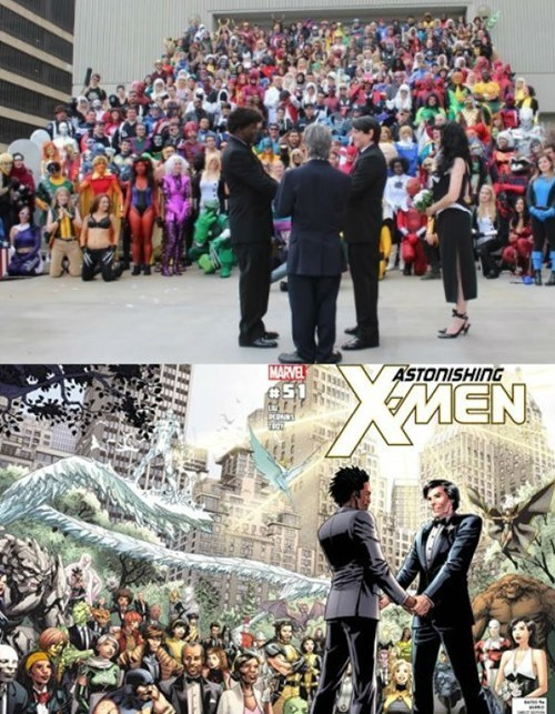 gay marriage IRL x men