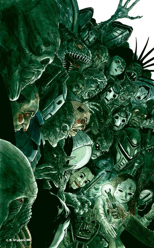 challenge,comics,cover art,cover variant,doctor who,monster
