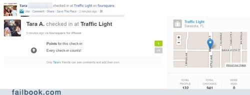 check in foursquare traffic light - 6567894528