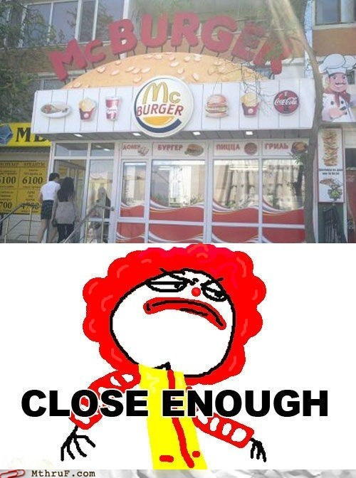 burger king,Close Enough,donald king,McDonald's