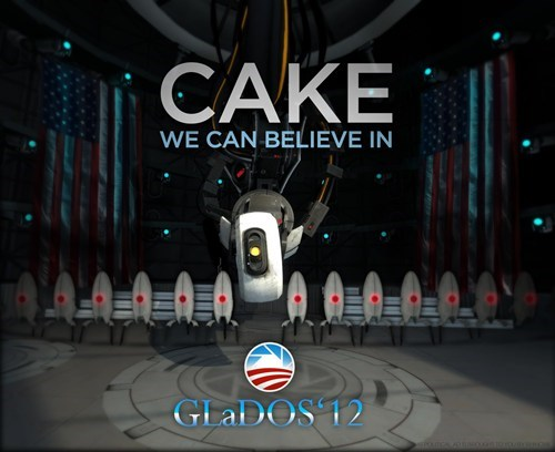 democrats,gladOS,politics,Portal,the cake is a lie