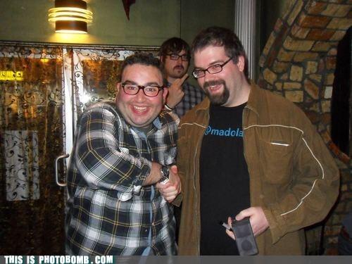 handshake,middle finger,nerdist