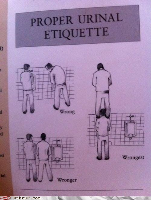 etiquette,stall dividers,urinal,urinal etiquette