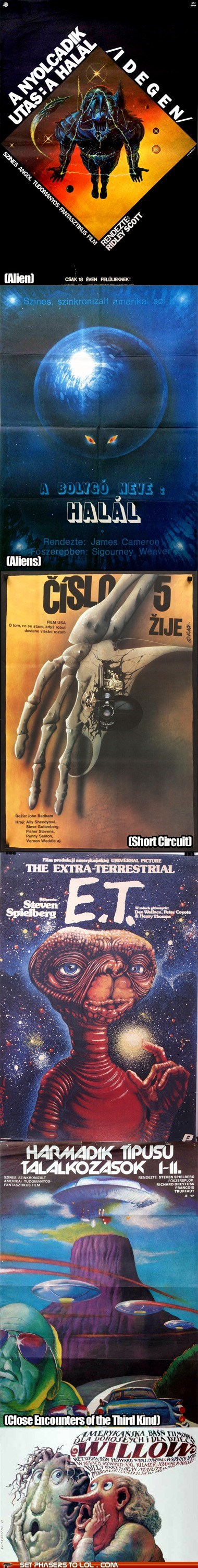 alien Aliens Close Encounters of the T Close Encounters of the Third Kind E.T foriegn movie posters science fiction short circuit weird willow - 6568064000