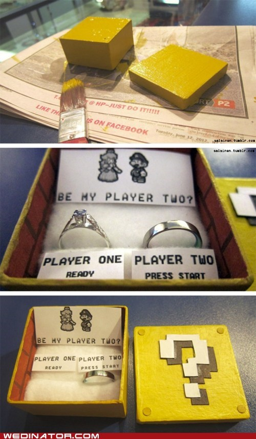 box,mario,princess peach,proposal,ring,video game