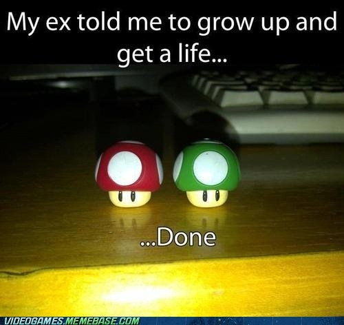 1up IRL mario mushroom relationships