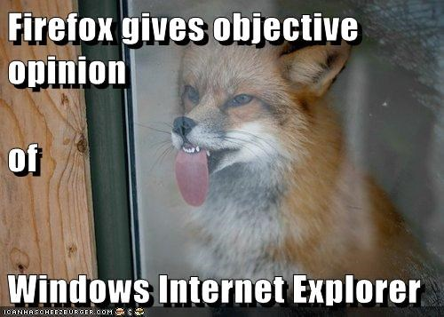 firefox,fox,internet explorer,licking,objective,opinion,windows