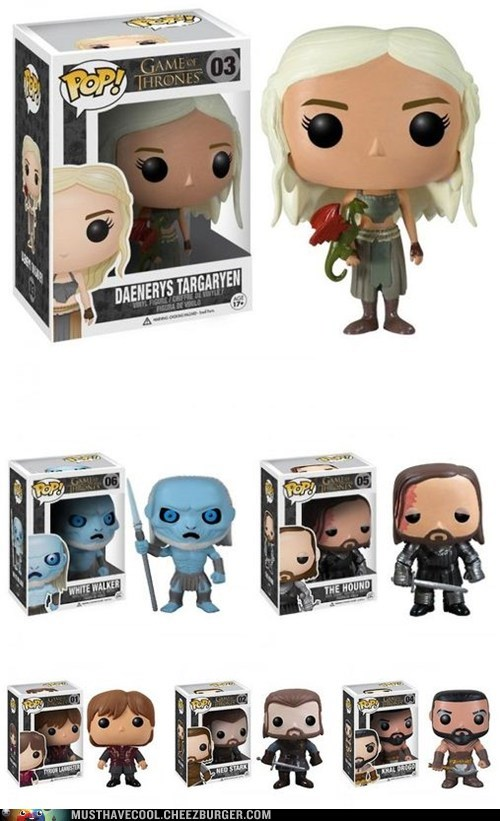 characters figurines Game of Thrones toys vinyl - 6568130048