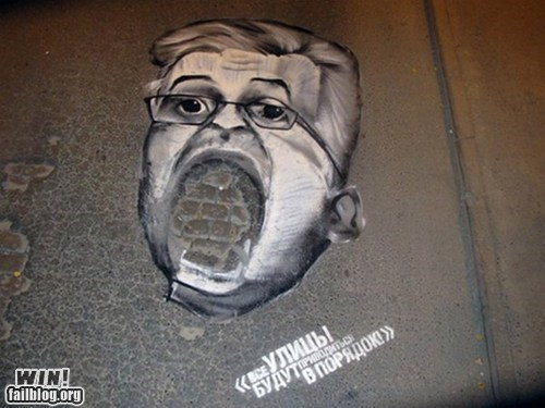 graffiti hacked irl only in russia pothole repairs Street Art - 6568134144