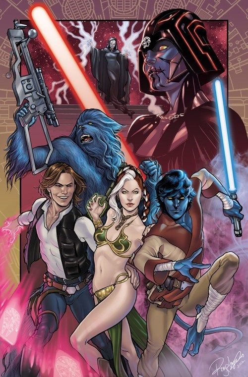 beast Fan Art luke skywalker mashup mutants nightcrawler Princess Leia rogue star wars x men - 6568142336