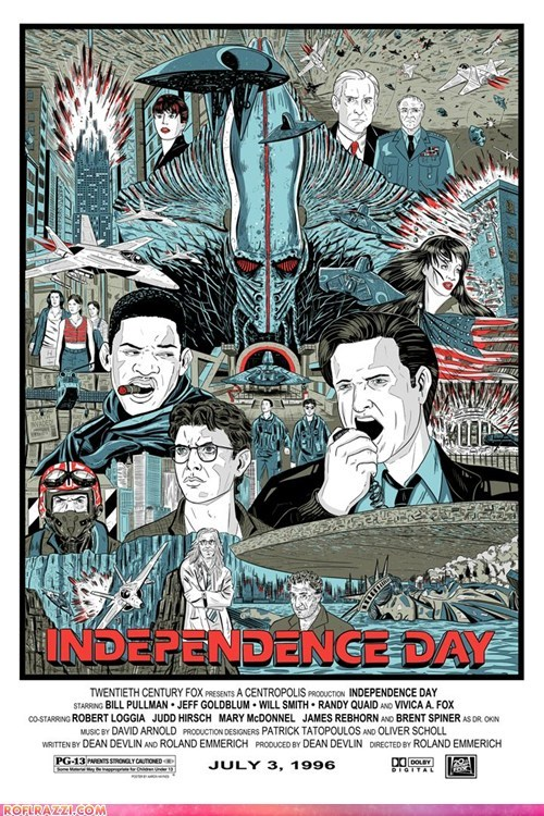 actor art Bill Pullman celeb independence day Movie poster Randy Quaid will smith