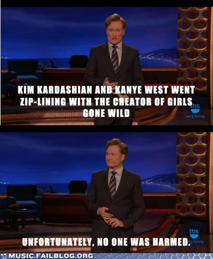 conan obrien,kanye west,kim kardashian